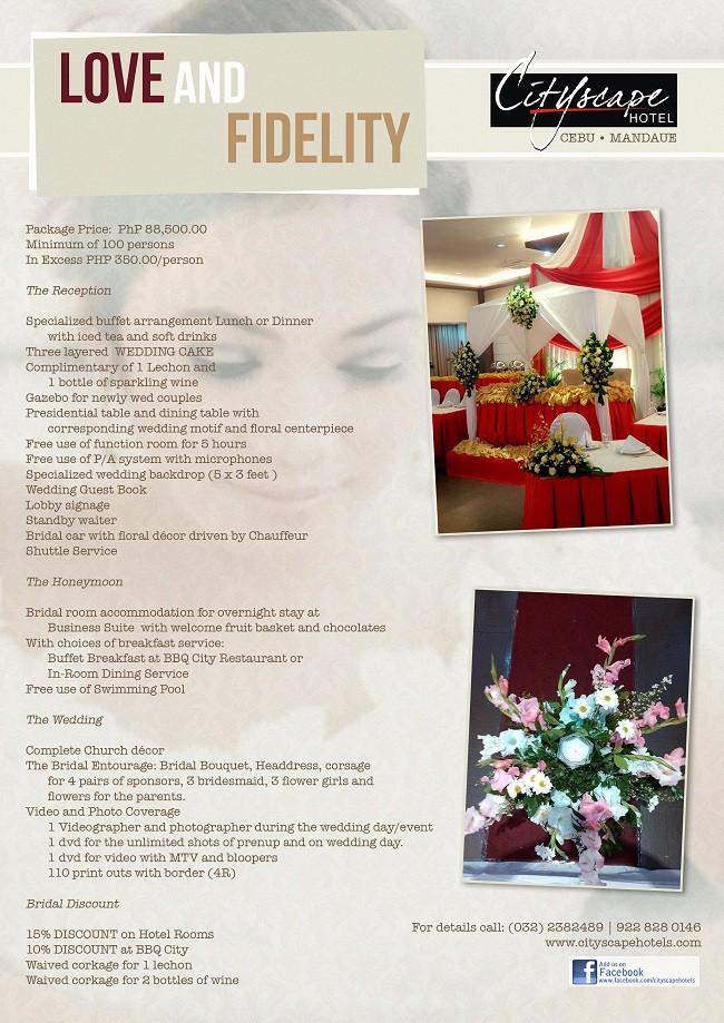 Love Fidelity Wedding Package 2